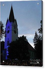 Silute Lutheran Evangelic Church Lithuania 01 Acrylic Print by Ausra Huntington nee Paulauskaite