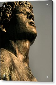 Silver And Bronze Acrylic Print by Tingy Wende