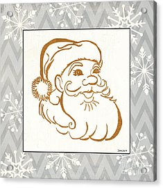 Silver And Gold Santa Acrylic Print