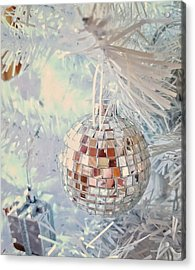 Silver And White Christmas Acrylic Print