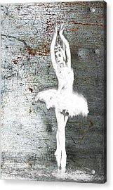Silver Ballet Dancer Extended Acrylic Print