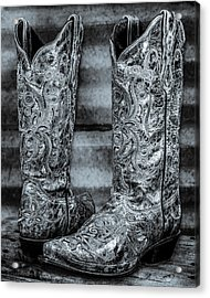 Silver Boot Acrylic Print by Erich Grant