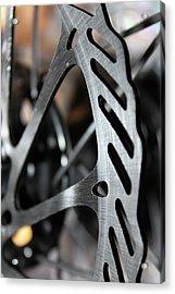 Silver Brake Acrylic Print by Angie Wingerd