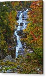 Silver Cascade Acrylic Print