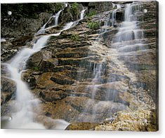 Silver Cascades - Crawford Notch New Hampshire Acrylic Print by Erin Paul Donovan