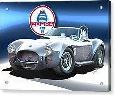 Acrylic Print featuring the painting Silver Cobra by Rod Seel