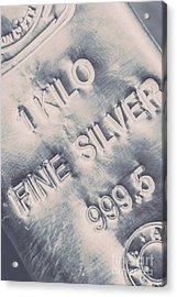Silver Commodities Acrylic Print