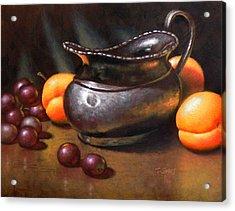 Silver Creamer Acrylic Print by Timothy Jones