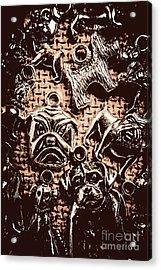 Silver Dog Show Acrylic Print