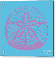 Acrylic Print featuring the digital art Silver Dollars Shell Tee by Edward Fielding