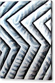 Silver Glass Waves Study 1  Acrylic Print