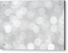 Silver Grey Bokeh Abstract Acrylic Print