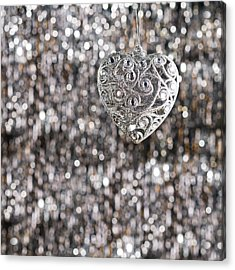 Acrylic Print featuring the photograph Silver Heart by Ulrich Schade