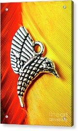 Silver Hummingbird Acrylic Print