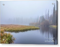 Silver Lake In The Clouds Acrylic Print