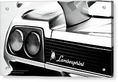 Silver Lamborghini Acrylic Print by Jim Harris