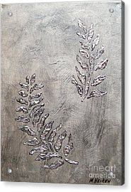 Silver Leaves Acrylic Print by Marsha Heiken