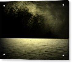 Silver Light Acrylic Print by Juana Maria Garcia-Domenech