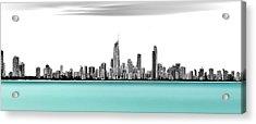 Silver Linings Panorama Acrylic Print