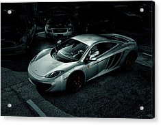 Acrylic Print featuring the photograph Silver Mclaren by Joel Witmeyer