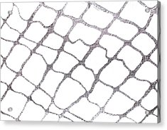Silver Net Abstract Acrylic Print