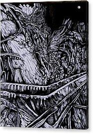 Silver Of My Lord Acrylic Print by Anna  Duyunova