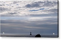 Silver On The Sea Acrylic Print by Menega Sabidussi