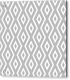 Silver Pattern Acrylic Print by Christina Rollo