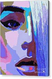 Acrylic Print featuring the digital art Silver Queen by Rafael Salazar