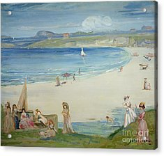 Silver Sands Acrylic Print by Charles Edward Conder