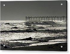 Silver Sea 1 Acrylic Print by Alan Hausenflock