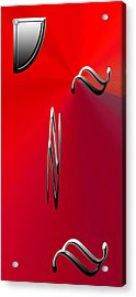 Silver Shapes On Red Acrylic Print by Aimee L Maher Photography and Art Visit ALMGallerydotcom