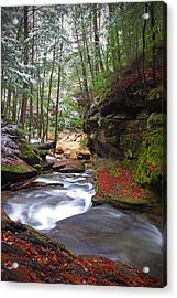 Silver Singing River Acrylic Print