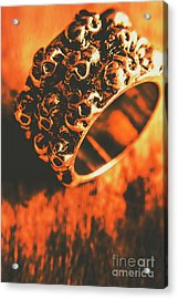 Silver Skulls Pirate Ring Acrylic Print by Jorgo Photography - Wall Art Gallery