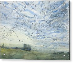 Silver Sky Acrylic Print