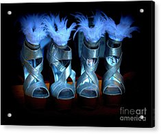 Silver Slippers Acrylic Print