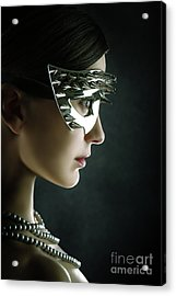 Acrylic Print featuring the photograph Silver Spike Beauty Mask by Dimitar Hristov