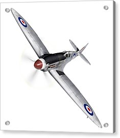Silver Spitfire Pr Xix Cutout Acrylic Print by Gary Eason