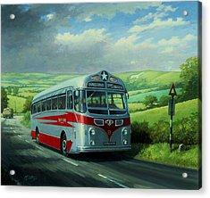 Silver Star Leyland Coach Acrylic Print by Mike  Jeffries