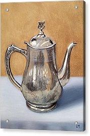 Silver Teapot Acrylic Print