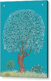 Silver Tree Acrylic Print by Charles Cater