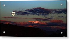 Silver Valley Moon Acrylic Print