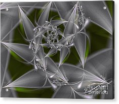 Acrylic Print featuring the digital art Silverleaves by Karin Kuhlmann