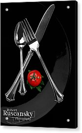 Silverware Acrylic Print by Robert Ruscansky