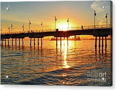 Sily Sunset At The Pier Acrylic Print