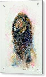 Acrylic Print featuring the painting Simba by Zaira Dzhaubaeva