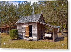 Simmons Cabin Built In 1873 In Orange County Florida Acrylic Print by Allan  Hughes