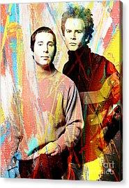 Simon And Garfunkel Color Art Poster Acrylic Print