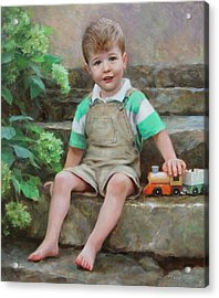 Simon Acrylic Print by Anna Rose Bain
