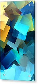 Simple Cubism Abstract 69 Acrylic Print by Chris Butler